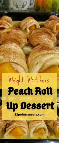 Peach Roll Up Dessert!!