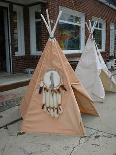 Children's Heavy Fabric Teepee cover indoor outdoor Easy Set up (choose color) Tipi Tent