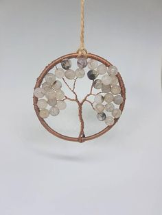 Moss Agate, Tree of Life Suncatcher, Agate beads, beaded Suncatcher, light catcher, mindfulness gift, meditation space, Wire tree, natural https://www.etsy.com/uk/listing/584248027/moss-agate-tree-of-life-suncatcher-agate