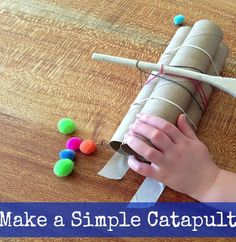 Make a simple catapult #catapult #STEM