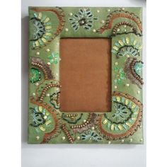 Hand Embroidered & Crafted Photo Frame with Clear Glass