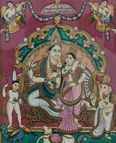 Mysore Painting, Kalamkari Painting, Madhubani Painting, Traditional Paintings, Traditional Art, Krishna Hindu, Krishna Lila, Lord Krishna Images, Indian Art Paintings