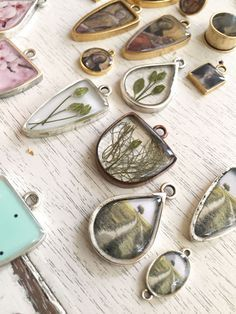 I have the fun task of designing jewelry samples to support the Nunn Design Mission of inspiring and nurturing creativity. So, I spend several days at my kitchen table working with each new product release. Tough life!