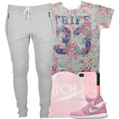 A fashion look from March 2014 featuring NIKE shoes and Joyrich hats. Browse and shop related looks.