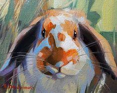 Orange bunny rabbit oil painting in frame, Miniatures Rabbit portrait custom canvas art, Easter gift art, Nursery wall art animal decor Canvas Paintings For Sale, Mini Paintings, Animal Paintings, Oil Painting On Canvas, Original Paintings, Canvas Art, Framed Canvas, Lapin Art, Bunny Painting