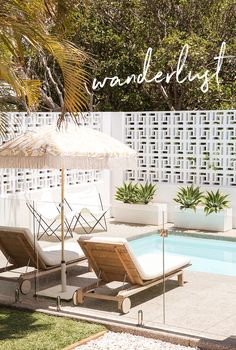 Extraordinary Breeze Block Ideas For Beautiful Home Style 110 – Breeze Blocks Patio Interior, Interior And Exterior, Outdoor Spaces, Outdoor Living, Outdoor Decor, Outdoor Pool Areas, Breeze Block Wall, Palm Springs Style, Building Raised Garden Beds