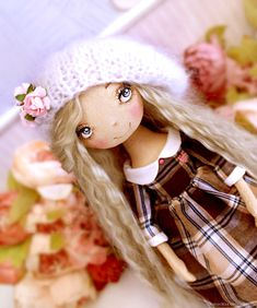Princess Agatha doll textile, art doll, ooak, doll interior artdoll – shop online on Livemaster with shipping