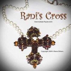 Bead Pattern - Rani's Cross Pendant | JewelryLessons.com