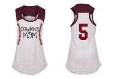 PERSONALIZED Baseball Stitches MOM Tank Top by BaseballMomBoutique, $32.99