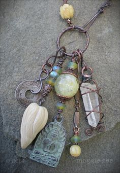 Peace and Possibility Shaman Amulet Necklace by maggiezees on Etsy, $145.00