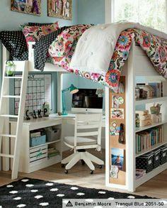 Teenager space-saving bedroom design