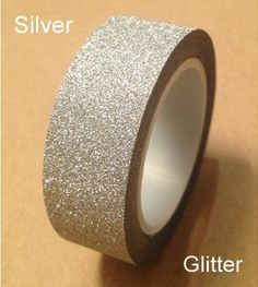 Hey, I found this really awesome Etsy listing at https://www.etsy.com/listing/192273398/glitter-sliver-washi-tape-japanese-washi