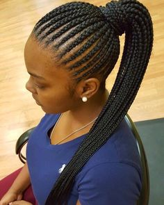 Have Fun With Braids Some Of The Best African Hairstyles Box Braids Hairstyles, Braided Ponytail Hairstyles, Braided Hairstyles For Black Women, African Hairstyles, Cornrow Ponytail, Black Girl Braids, Braids For Black Hair, Girls Braids, Cornrows With Extensions