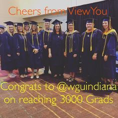 Cheers and Congrats to #WGUIndiana @wguindiana for reaching 3000 grads #workforce #goviewyou