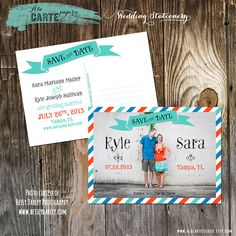 Mailer Save the Date  Postcard by alacartestudio on Etsy, $15.00