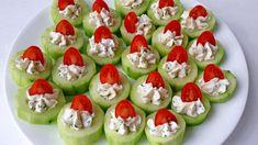 Cucumber Bites Appetizers « Valya's Taste of Home Cucumber Appetizers, Cucumber Bites, Yummy Appetizers, Appetizers For Party, Appetizer Recipes, Thanksgiving Appetizers, Healthy Work Snacks, Clean Eating Snacks, Healthy Recipes
