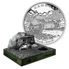 Limited Edition 1 oz. Fine Silver Coin - 70th Anniversary of the End of the Italian Campaign - Mintage: 10,000 (2015)