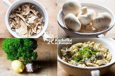 Nudle s houbovou omáčkou Stuffed Mushrooms, Meat, Chicken, Vegetables, Recipes, Food, Stuff Mushrooms, Essen, Eten
