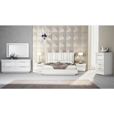 Ariana Bedroom Collection, White | Creative Furniture Furniture, Upholstered Headboard, Wall Bed, Creative Furniture, Bed Furniture, King Beds, Bedroom Set, Bedroom, Bedroom Collection