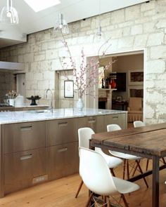 The best kitchens keep the spirit of the home alive. The winning kitchen from  2013 is in a heritage-listed farmhouse. The owners had a few physical restraints to work around, one of which came as quite a surprise: an old limestone wall was discovered when the owners started chipping away at the plaster walls of the original house.
