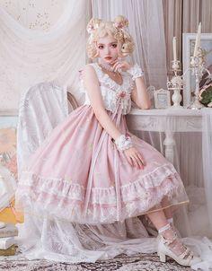 Little Forest -The Elegant Jackdaw- Lolita Jumper Dress - 3 Colors Available,Lolita Dresses, Harajuku Fashion, Kawaii Fashion, Lolita Fashion, Cute Fashion, Moda Lolita, Lolita Mode, Estilo Lolita, Cosplay Kawaii, Outfit Elegantes