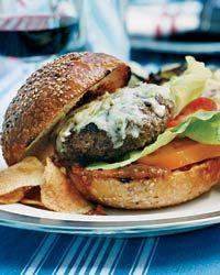 Bobby Flay's Burger with Peanut-Chipotle Barbecue Sauce