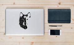 Wolf Decal Wolf Sticker Geometric Animal Geometric by TheRadness