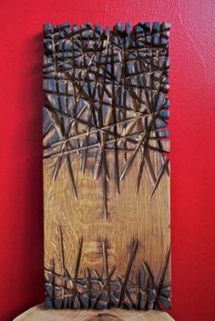 """Stéphane Derozier ~""""Burning Chêne"""" ~ Wood Sculpture✖️More Pins Like This O. Wood Sculpture, Wall Sculptures, Sculpture Ideas, Wood Burning Art, Wood Burning Stencils, Wooden Wall Art, Diy Wall Art, Wood Design, Wood Carving"""