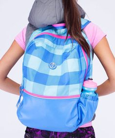 Look what I found on #zulily! Angel Blue Gros Gingham Flannel Next Level Backpack #zulilyfinds