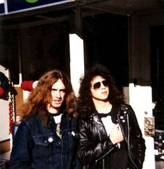 Kirk Hammett and Cliff Burton