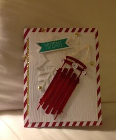 Stampin' Up! demonstrator Deb N's project showing a fun alternate use for the Watercolor Winter Simply Created Card Kit.