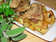 sovracosce di pollo alle erbe aromatiche al forno con patate