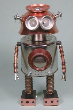 BOSLEY Found Object Robot Sculpture Assemblage door NutzenBoltsWorks, $89.00