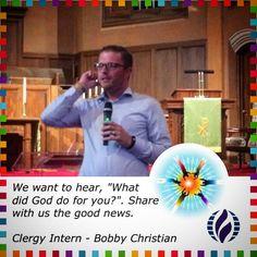 "We want to hear, ""What did God do for you?"".  Share with us the good news.     Clergy Intern - Bobby Christian #sundaysermon #achurchforall #mcc #mccsac"