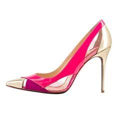 b41e1b28b1d852 Onlymaker Damenschuhe High Heels Spitze Toe Transparent Pumps Kunstleder  Pink EU44