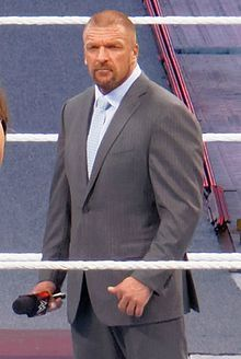 Triple H....Paul Michael Levesque (born July 27, 1969),Nashua NH better known by his ring name Triple H (an abbreviation of the name Hunter Hearst Helmsley), is an American professional wrestler, corporate executive, and actor.