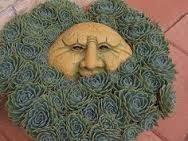 Image result for garden art faces
