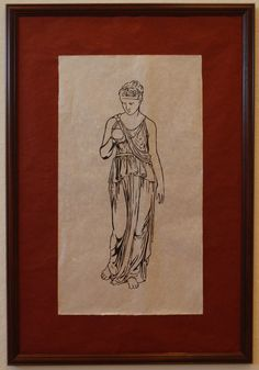 Clio:  Muse of History (woodblock print on rice paper). $220.00, via Etsy.