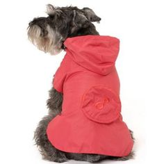 Classic and practical, lightweight dog coat with a round pocket is this season's must have pet fashion.  Lined with a breathable mesh and fasten around the front and underneath the belly with velcro - which means it is easily fitted even for the most wriggliest of dogs.  This Puchi Dog Mac also folds into the back pocket for portability!