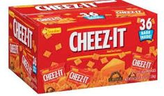 Sunshine Cheez-It Cheese Crackers Thirty Six Ounce Snack Pack Bags Peanut Free Snacks, No Bake Snacks, Yummy Snacks, School Lunch Recipes, Healthy School Snacks, Gourmet Recipes, Snack Recipes, Free Recipes, Dorm Food
