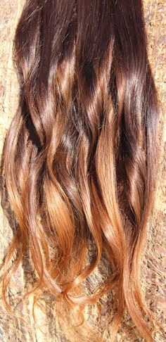 Eight Dark Medium Brown Ombre Hair Extensions by Expressions4hair, $95.00