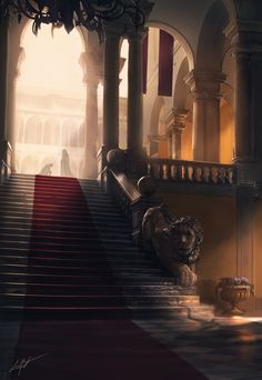Lion's Gate, Luca Bancone on ArtStation at https://www.artstation.com/artwork/g9QgE
