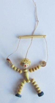 Make a Miniature 1/12th Scale Wooden Marionette Puppet for the Dolls House Nursery