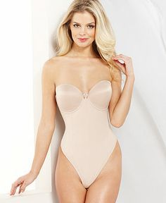 Va Bien Low Back Thong Bodysuit 1509 - Lingerie - Women - Macy's