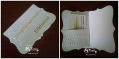 Carte de félicitations de mariage avec pochette pour carte cadeau