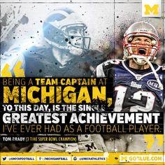 New England Patriots QB Tom Brady on University of Michigan Football. #NCAAF #NFL