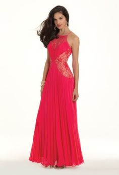Chiffon and Lace Pleated Prom Dress from Camille La Vie and Group USA