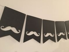 Items similar to Black Mustache Cardstock Paper 8 Pennant Flag Banner Party Birthday Decoration Decor Chalk Cardboard on Etsy Boys First Birthday Party Ideas, 30th Birthday Gifts, Happy Birthday Banners, Man Birthday, Boy Birthday Parties, Mustache Decorations, Birthday Party Decorations Diy, Fathers Day Crafts, Happy Fathers Day