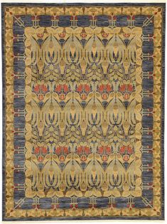 Navy Blue Allover Sultanabad Area Rug