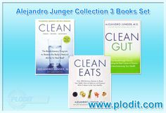 Plodit Wholesale presents Alejandro Junger Collection 3 Books Collection Set. #AlejandroJunger #DietBooks #DietBookCollection #dietbooksforsale #dietcollection #cleaneating